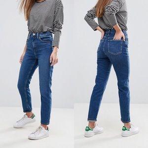 NWT ASOS Farleigh High Waist Mom Crop Jeans